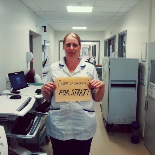 nurse for Strat CapForStrat prostate cancer Avengers Marvel