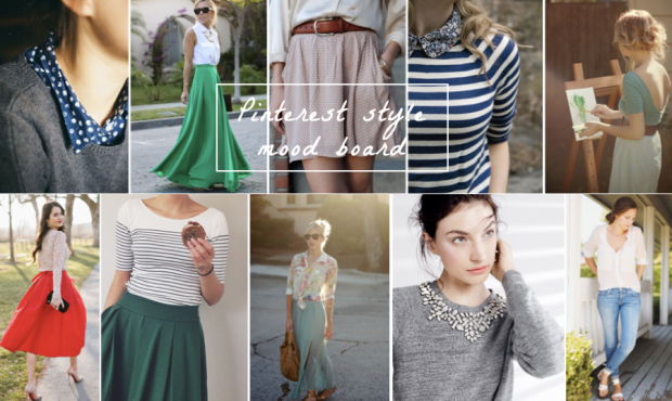 Pinterest fashion, style mood board, wardrobe inspiration